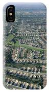 An Aerial View Of Urban Sprawl IPhone Case