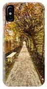 An Autumn Path IPhone Case