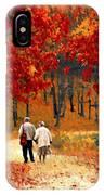 An Autumn Walk IPhone Case