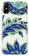An Iznik Blue And White Pottery Tile, Turkey, 17th Century, By Adam Asar, No 18b IPhone Case