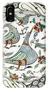 An Iznik Polychrome Pottery Dish With Birds IPhone Case
