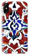 An Iznik Polychrome Pottery Tile, Turkey Circa 1580, By Adam Asar, No 18b IPhone Case