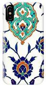 An Iznik Polychrome Tile, Turkey, Circa 1575, By Adam Asar, No 23h IPhone Case