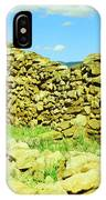 An Old Wall At The Pecos Ruins IPhone Case