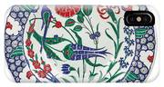 An Ottoman Iznik Style Floral Design Pottery Polychrome, By Adam Asar, No 1 IPhone Case