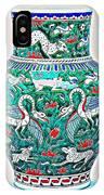 An Ottoman Iznik Style Floral Design Pottery Polychrome, By Adam Asar, No 7a IPhone Case