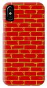 Anarchy Graffiti Red Brick Wall IPhone Case