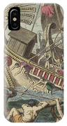 Ancient Greek Sea Battle IPhone Case