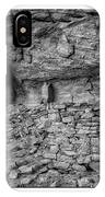 Ancient Ruins Mystery Valley Colorado Plateau Arizona 02 Bw Text IPhone Case