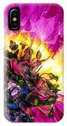 Anemone Abstracted In Fuchsia IPhone Case