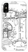 Anesthetic Machine Patent 1919  IPhone Case