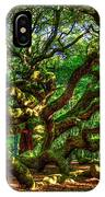 Angel Oak Morning Shadows Charleston South Carolina IPhone Case