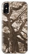 Angel Oak Sepia IPhone Case