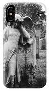Angel On The Ground At Calvary Cemetery In Nyc New York IPhone Case