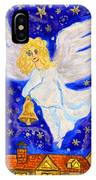 Angel With Christmas Bell IPhone Case