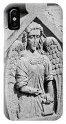 Angel With Scroll Carving IPhone Case