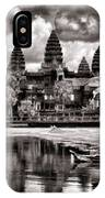 Angkor Wat Sepia Paint  IPhone Case