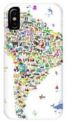 Animal Map Of South America For Children And Kids IPhone Case