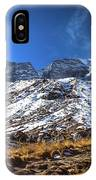 Annapurna Trail With Snow Mountain Background In Nepal IPhone Case