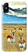 Antelope At Attention IPhone Case