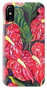 Anthurium Flowers IPhone Case