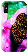 Antillean Crescent Butterfly On Impatiens IPhone Case