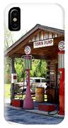 Antique Car And Filling Station 2 IPhone Case
