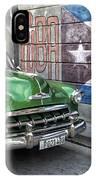 Antique Car And Mural IPhone Case