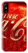 Antique Coca-cola Cooler IPhone Case
