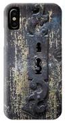 Antique Door Lock Detail IPhone Case