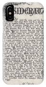 Antique Florentine Desiderata Poem By Max Ehrmann On Parchment IPhone Case