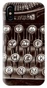 Antique Keyboard - Sepia IPhone Case