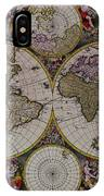 Antique Map Exotic Colorful IPhone Case