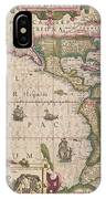 Antique Map Of America IPhone Case