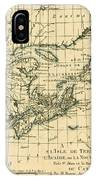 Antique Map Of Eastern Canada IPhone Case