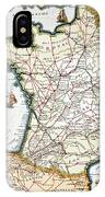 Antique Map Of France IPhone Case