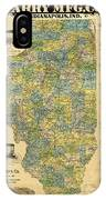 Antique Map Of Indianapolis By The Parry Mfg Company - Historical Map IPhone Case