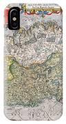 Antique Map Of Ireland IPhone Case
