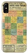 Antique Map Of The Mclean County - Business Advertisements - Historical Map IPhone Case