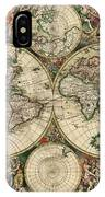 Antique Map Of The World - 1689 IPhone Case