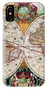 Antique Map Of The World - Double Hemisphere IPhone Case