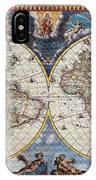 Antique Maps Of The World Joan Blaeu C 1662 IPhone Case