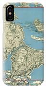 Antique Maps - Old Cartographic Maps - Antique Map Of Cape Cod, Massachusetts, 1945 IPhone Case