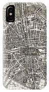 Antique Maps - Old Cartographic Maps - Antique Map Of Paris, France, 1643 IPhone Case