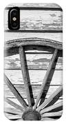 Antique Wagon Wheel In Black And White IPhone Case
