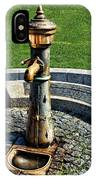 Antique Water Fountain IPhone Case