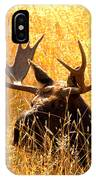 Antlers In The Golden Grass IPhone Case