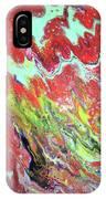 Ap-red And Aqua IPhone Case