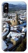 Apiro Italy In The Snow - Aerial Image. IPhone Case