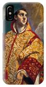 Apparition Of The Virgin To St Lawrence IPhone Case
